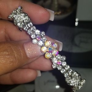 Custom Iridescent Rhinestone Hair Clip